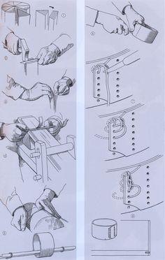 Fremstilling af en spånæske – herstellung von einer Spanschachtel – Making a chip box