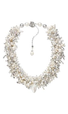 Jewelry Design - Collar-Style Necklace with Swarovski Crystal Beads and Focal and Cultured Freshwater Pearls - Fire Mountain Gems and Beads