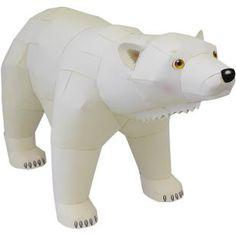 Polar Bear,Animals,Paper Craft,North Pole,white,Mammals ,Endangered species,Animals,bear,Carnivores,Paper Craft