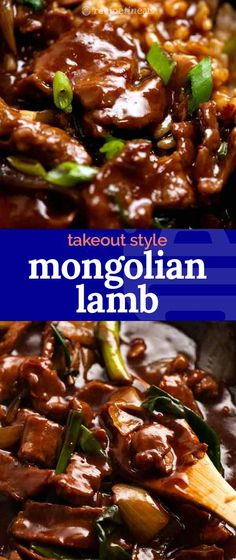 """Mongolian Lamb is an Aussie favourite, found on the menu of every suburban Chinese restaurant. At """"posher"""" establishments, it might even arrive at the table on a hot iron plate, sizzling and spitting for theatric effect!  Sizzle aside, this homemade version is a near perfect replica. Even the velveted texture of the lamb! Lamb Recipes, Asian Recipes, Cooking Recipes, Budget Recipes, Thai Recipes, Mongolian Lamb Recipe, Chinese Cooking Wine, Asian Cooking, Lamb Sauce"""