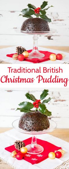 Making a traditional British Christmas pudding is really easy. I make one every year on Christmas Eve. It would not be Christmas with the Plum Pudding and Brandy Sauce. Christmas Cooking, Christmas Desserts, Christmas Treats, Christmas Dishes, Christmas Cakes, Christmas Parties, Hp Sauce, British Christmas Traditions, British Traditions