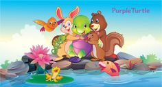 Friends Forever! Turtle Quotes, Purple Turtle, School Videos, Early Learning, Pre School, Friends Forever, Pikachu, Homeschool, Nursery