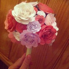 Paper flowers using my Cricut flower shoppe! Using for my kitchen table, or bouquet!