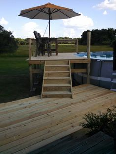 Above ground pool deck!