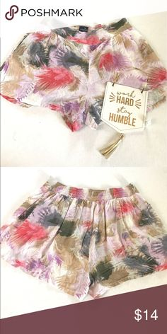 American eagle water color shorts Light weight summer shorts in good condition size large they have small splits on the side loose fitting American Eagle Outfitters Shorts