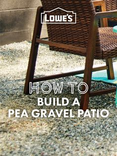 DIY your own outdoor entertainment space with a pea gravel patio!