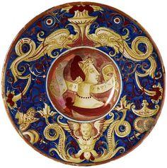 Plate with a Woman in Profile, 1529 | Workshop of Giorgio Andreoli, called Giorgio da Gubbio | The Morgan Library & Museum
