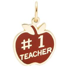 Teacher Charm $34 http://www.charmnjewelry.com/category/n250/gold_charms-Charms_w_Color.htm?returnurl #TeacherCharm #CharmnJewelry #RembrandtCharms