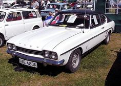 White 1974 Ford Capri 3.0 GXL - public domain image 70s Cars, Ford Capri, Ford Motor Company, The Good Old Days, Motor Car, Ford Mustang, Cars And Motorcycles, Transportation, Classic Cars
