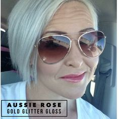 Aussie Rose with gold glitter gloss. LipSense is a 2 part system with the color and gloss that work together to help hydrate, moisturize and seal the color for all day lasting lips! It's kiss proof, smudge proof and waterproof. The LipSense colors are $25, the gloss is $20 or you can get the starter kit for $55 that comes with color, gloss and oops remover! One tube of LipSense lasts up to 6 months! Contact me to get your lip fix fixed!