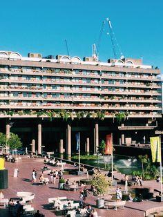 Brutalist Buildings, Deconstructivism, Exposed Concrete, Barbican, Urban Architecture, Postmodernism, Architectural Digest, London England, Exterior