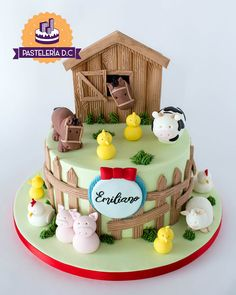 Boys 1st Birthday Party Ideas, 1st Boy Birthday, Birthday Cake, Baby Shower Cakes, Baby Shower Themes, Farm Party, Farm Theme, Themed Cakes, First Birthdays