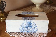 """Boite à mouchoirs en bois romantique - """"Marie-Antoinette, Pompadour"""" : Boîtes, coffrets par charmy-co"""