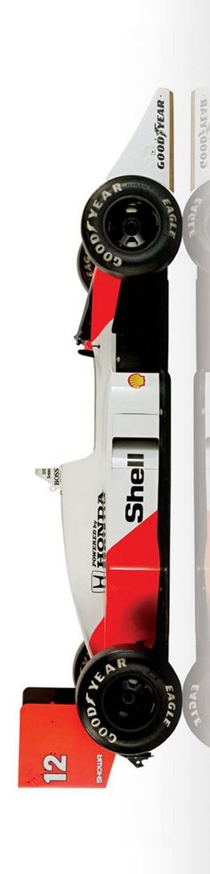The McLaren MP4/4 was one of the most dominant F1 race cars ever built. Taking both driver's and constructor's titles in 1988, winning all but one race.