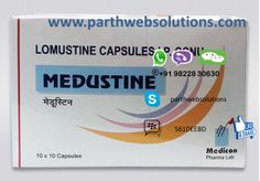 CeeNU Capsules, Medustine (Lomustine Capsules) Medustine (Lomustine)  is an oral anti-cancer medication prescribed to treat several types of  cancer. These in