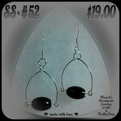 HANDMADE STERLING SILVER EARRINGS. **$19.00 USD**  ♥ made with love ♥ By: MUSICK'S HANDMADE JEWELRY, CRAFTS & THRIFTY BUYS.  These earrings are FOR SALE! I accept PayPal. I DO SAME-DAY SHIPMENTS (unless after business hours) I OFFER A 100% SATISFACTION GUARANTEE. If you are NOT 100% SATISFIED with any of my items, please return them for a FULL REFUND WITHOUT HASSLE OR QUESTIONS.  I LOVE FEEDBACK, whether its good or bad. I listen to & take into consideration, every opinion that is given to…