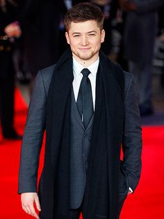 Kingsman Breakout Star Taron Egerton...wish my daughters would bring him home!