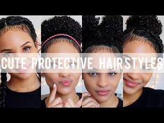 Protective Hair Styles For Natural Hair - YouTube