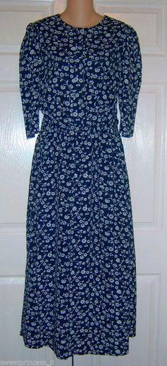 "Amish Mennonite Handmade Modest OOAK Cape Dress 40""Bust / 28"" to 38"" Waist"
