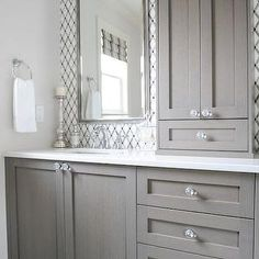 Dreaming of an extravagance or designer master bathroom? We have gathered together plenty of gorgeous master bathroom tips for small or large budgets, including baths, showers, sinks and basins, plus bathroom decor some ideas. Bathroom Linen Tower, Laundry In Bathroom, Bathroom Renos, Bathroom Renovations, Bathroom Vanities, Bathroom Storage, Bathroom Organization, Master Bathrooms, Bathroom Cupboards
