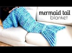 How to crochet a mermaid tail blanket. Easy pattern for beginners, step by step tutorial