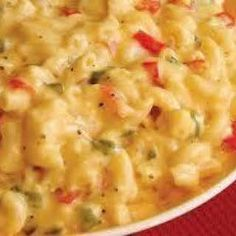 Mexican Macaroni and Cheese (Weight Watchers) with Elbow Macaroni, Processed Cheese, Taco Seasoning, Salsa.