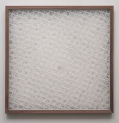 Andy Ouchi, Pattern and Mutation Part 1, 2010. Plexiglass and Walnut. 38 x 38 inches (96.5 x 96.5 cm)