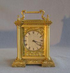 Inglés fusee reloj de transporte por Harvey & Co. Strand Londres. - Gavin Douglas Antigüedades