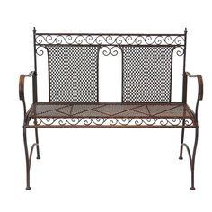 Marquee Rustic Iron Garden Bench