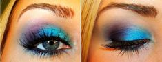 101 Eye Make Up Tutorials From Around The World  Gorgeous Blue and Purple Eye Makeup: