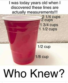 In case you dont have a measuring cup Simple Life Hacks, Useful Life Hacks, 1000 Life Hacks, Thing 1, Home Hacks, Hacks Diy, Baking Tips, Kitchen Hacks, Camping Hacks