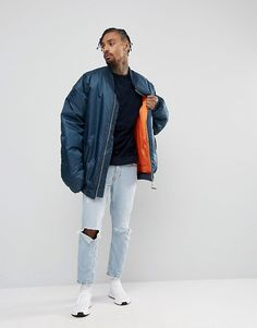ASOS   ASOS Sweatshirt With Velour Front And Piping