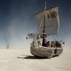 Burning Man 2010 by Hector Santizo, via Behance
