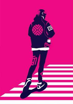 Duotone Illustrations by Neil V Fernando | Inspiration Grid | Design Inspiration #illustration #artwork #drawing #vectorart #vector #duotone #pink #inspirationgrid