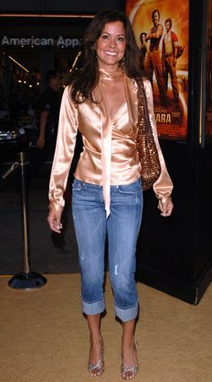 Red Leather, Leather Jacket, Brooke Burke, American Actress, Capri Pants, Actresses, Pretty, Model, Jackets