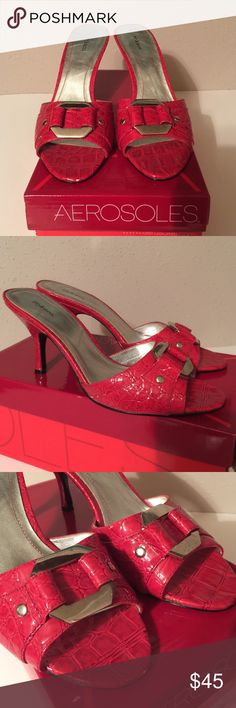 Style and Company pretty red sandal shoe 7.5 med Style and Company pretty red sandal 7.5 medium regular preowned in excellent condition.  Check out my other items, we have a lot of collectible, antiques, vintage, fashion jewelry, women's clothing, handbags, shoes, home decors, kitchen & more that you might be interested.  Let me know if you have any questions. Thank you & Have a Great Day!!! FREE GIFT with every purchase!!! Style & Co Shoes Sandals