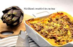 Lasagne con carciofi, caciocavallo e zafferano | SICILIANI CREATIVI IN CUCINA | di Ada Parisi