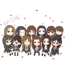 #izone#fanart#dumplings_ooo Kpop Fanart, Korea Makeup, Kpop Drawings, Fan Art, Korean Art, First Art, Cartoon Wallpaper, The Wiz, Honda