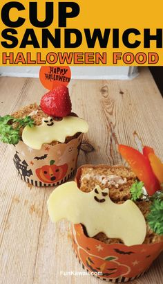 Halloween Food idea and inspiration! Super Easy but yet super fun sandwich cup! Learn how to make it and pack like a boss! Healthy Kids Party Food, Healthy Toddler Lunches, Quick Healthy Lunch, Easy Snacks For Kids, Kids Meals, Healthy Snacks, Snacks For School Lunches, Bento Box Lunch For Kids, Lunch Box