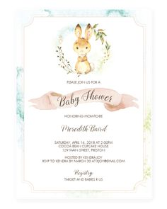 Easter bunny first birthday some bunny card easter bunny bunny bunny baby shower invitation template by littlesizzle stopboris Image collections