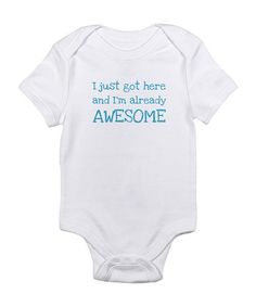 Cloud White 'I'm Already Awesome' Bodysuit - Infant