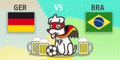 Deutschland gegen Brasilien  Was tippt ihr? Schlagen wir die Seleção deutlich, oder werden sich die Brasilianer stark zur Wehr setzen?  Jeder richtige Tipp gewinnt einen 5 Euro Gutschein von Kölle Zoo.  Das Runde muss ins Eckige!