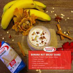 Banana nut bread shake – My WordPress Website Bariatric Eating, Bariatric Recipes, Bariatric Surgery, Protein Smoothie Recipes, Protein Snacks, Smoothies, Premier Protein Shakes, Banana Nut Bread, Yummy Drinks