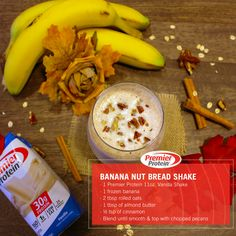 This shake is the best thing since sliced banana nut bread!