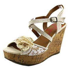 Jellypop Tatum Women US 6.5 Tan Wedge Sandal <3 This is an Amazon Associate's Pin. Find out more on Amazon website by clicking the VISIT button.