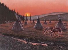 "Troy Dunham - ""Bighorn Valley Sunrise"" - Native American Art & Jewelry - Indian River Gallery"