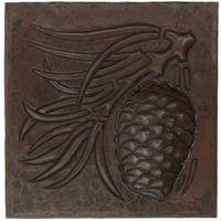 TL342 - Pinecone Arts and Crafts Design Copper Tile