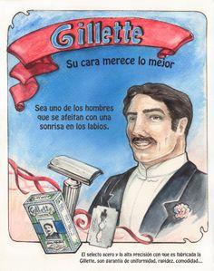 Máquina de afeitar de cuchillas desechables Gillette. Se patentó en 1901.