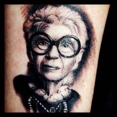 Iris Apfel wrist tattoo on Alexis Bittar Director of PR Samantha Shaw