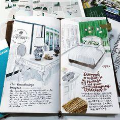 "47 Likes, 3 Comments - Vanessa Ho (@vanessa_watercolor) on Instagram: ""有時候就是不想睡覺。太喜歡這個住宿,大概會畫上好幾頁。很喜歡那裡蓊鬱綠意,鳥語花香。大門外車水馬龍,但一入內花園,完全感覺躲進了世外桃源,絲毫不受干擾。這裡有一棵120多年的老榕樹,有200多年的歷史建築,這皇家舊居見證了拉瑪六世的多才多藝,如今低調地等旅客入住。#theraweekanlayabangkok…"""